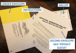 absentee ballot second envelope